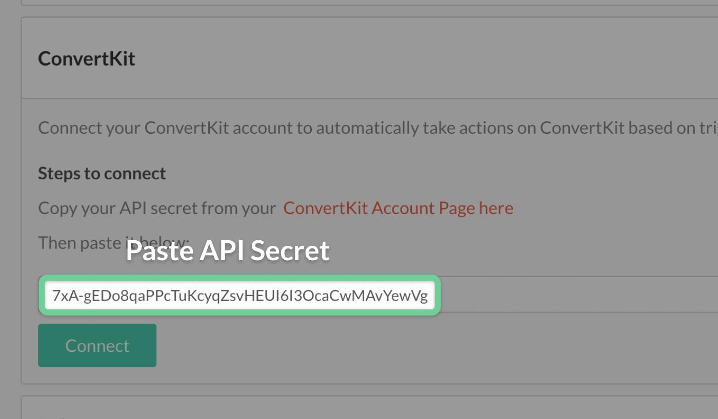 Pasting API secret in crowdcast